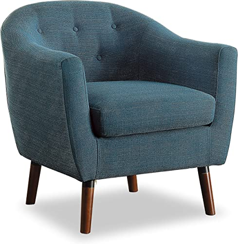 Homelegance Fabric Barrel Chair, Blue