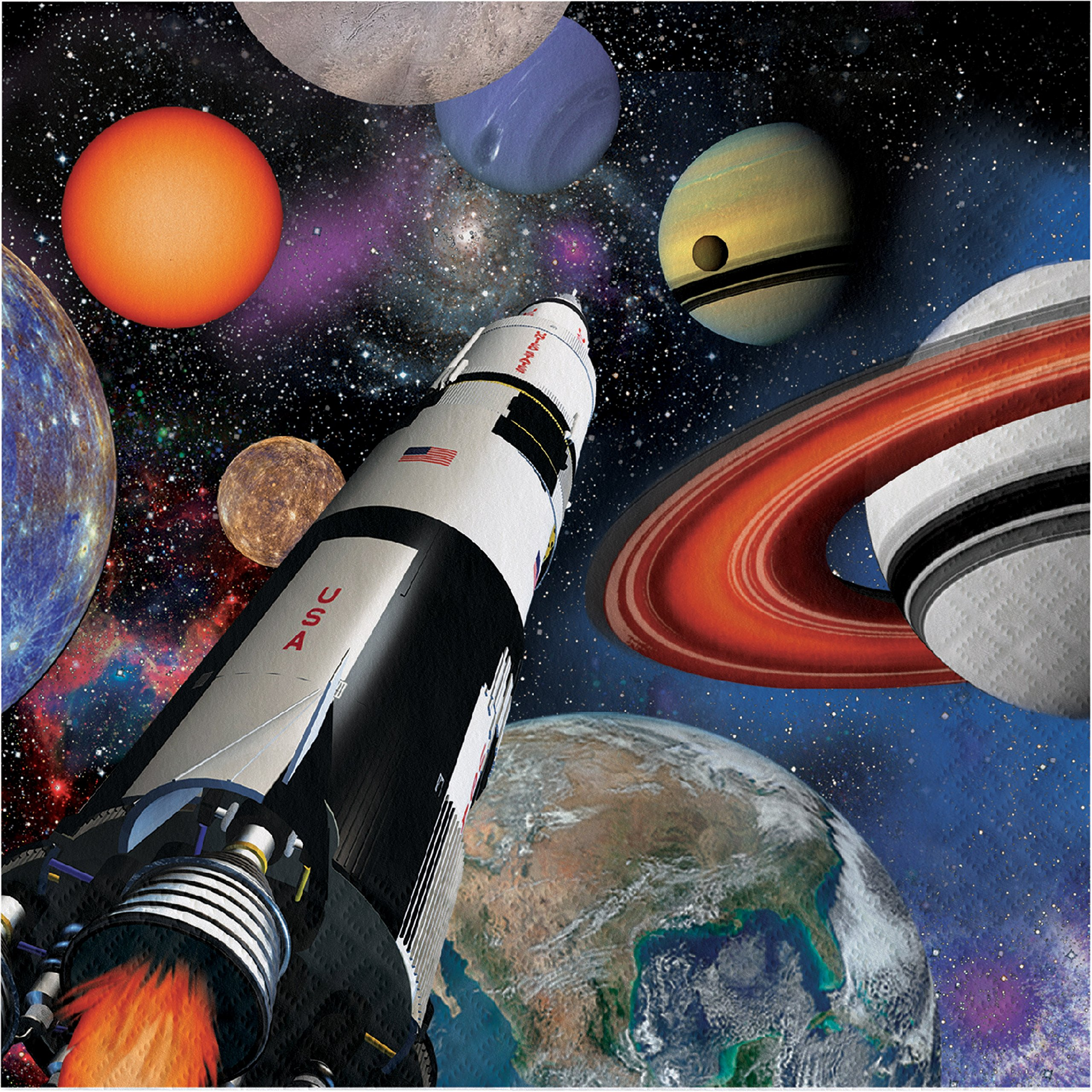 Space Blast Napkins, 48 ct