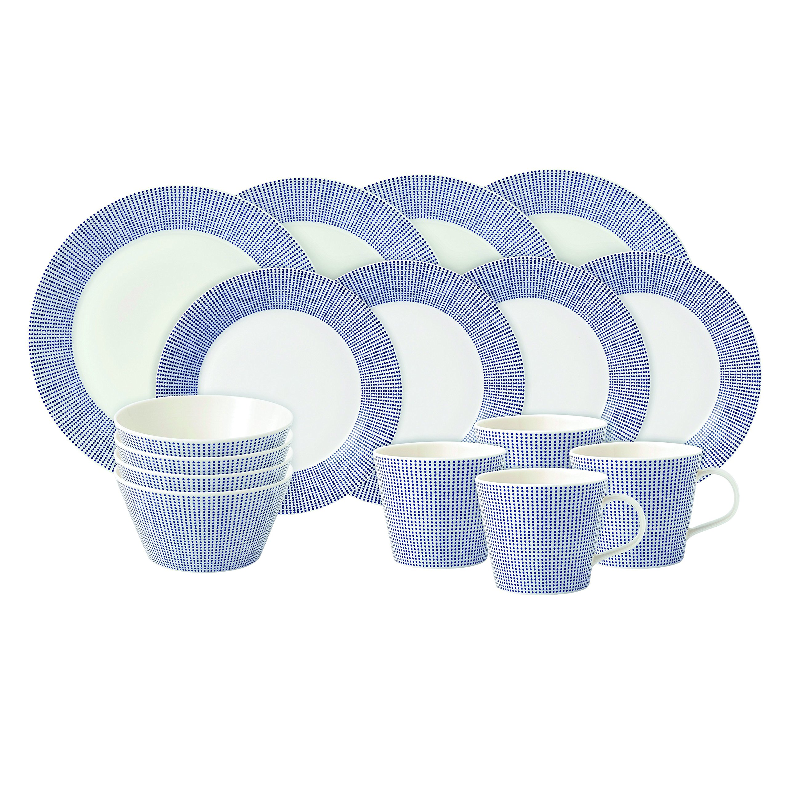 Royal Doulton Pacific Dots 16 Piece Dinner Set, White