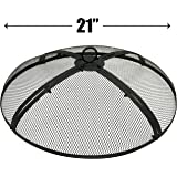 EasyGo 21 INCH FIRE SCREEN – FIRE PIT COVER – FIRE SCREEN PROTECTOR