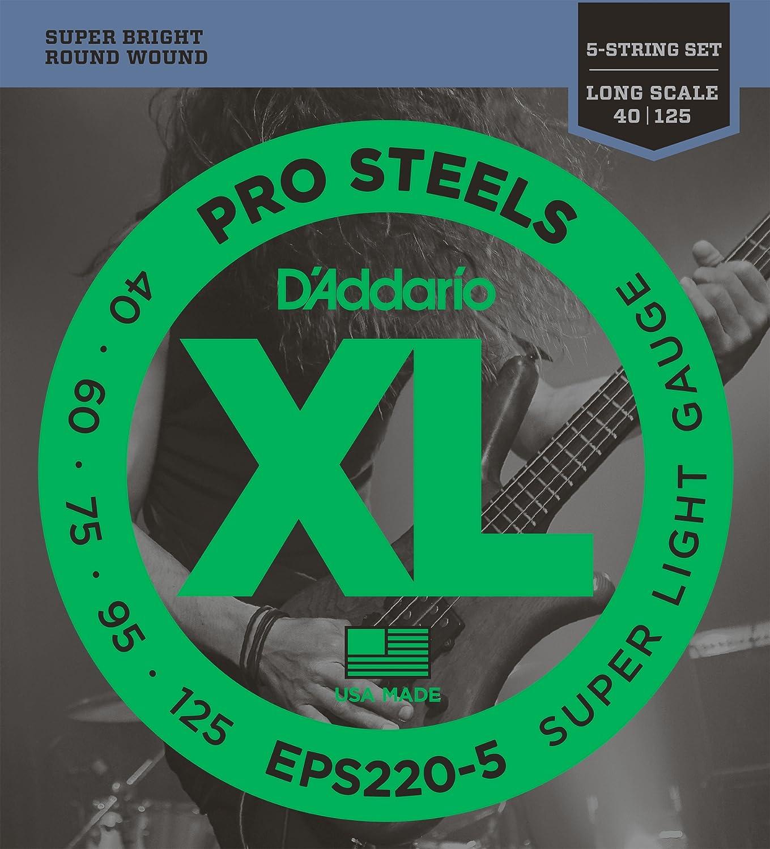 D'Addario EPS220-5 5-Saiter Bass Saitensatz 0, 10 cm - 0, 32 cm (.040 - .125 Zoll) D' Addario Ltd
