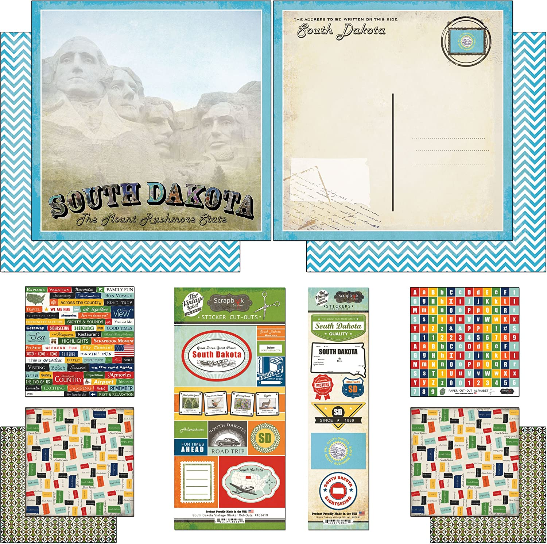 PAPER HOUSE SOUTH DAKOTA TRAVEL VACATION CARDSTOCK SCRAPBOOK STICKERS