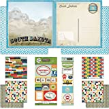 Scrapbook Customs Themed Paper and Stickers Scrapbook Kit, South Dakota Vintage