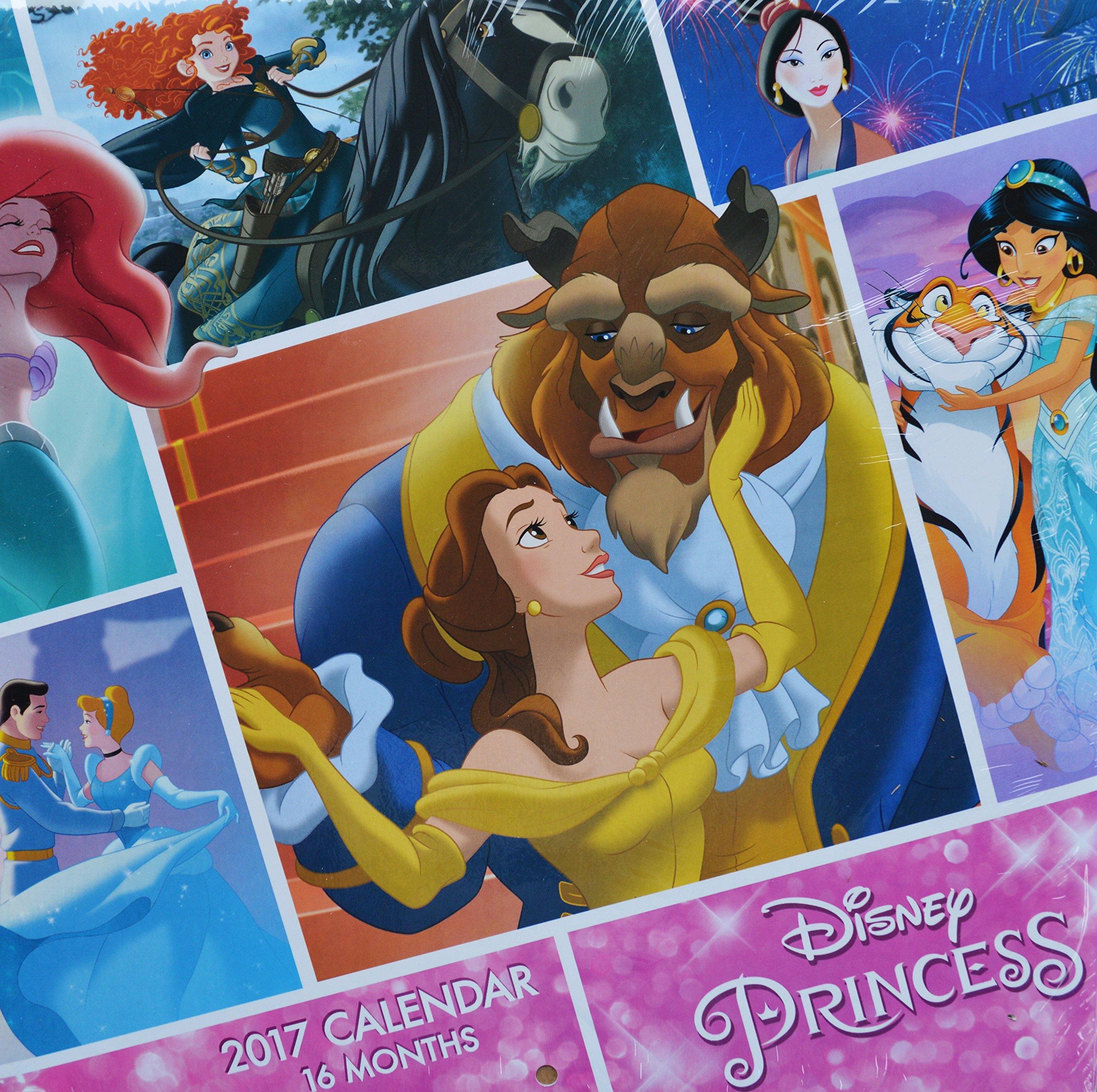 2017 Disney Princess 16-Month Wall Calendar