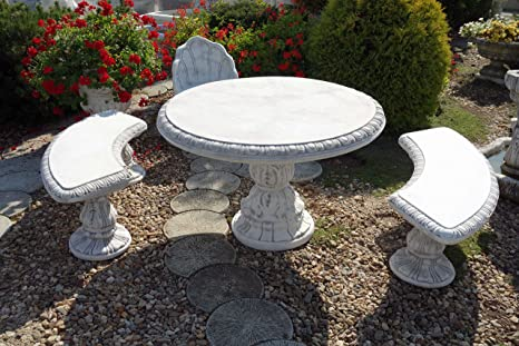 Table de jardin en pierre de fonte, résistant au gel: Amazon ...