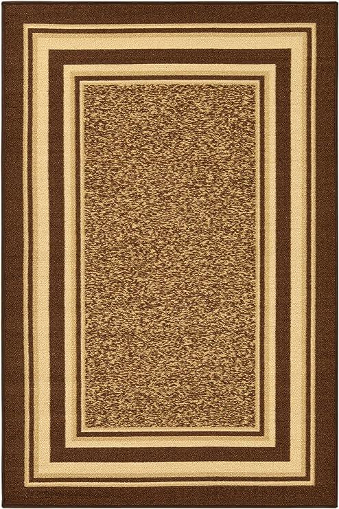 Amazon Com Ottomanson Area Rug 5 X 6 6 Brown Furniture Decor