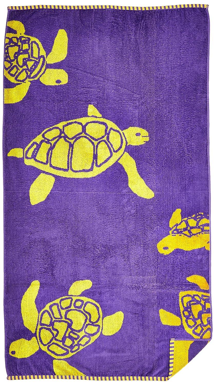 Northpoint Double Jacquard Premium Beach Towel, 34' x 63' Ocean Blue 34 x 63 Ocean Blue Northpoint Trading Inc 12633