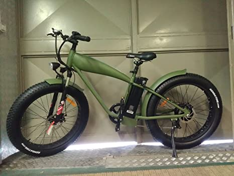 Fat Bike Bicicletta A Pedalata Assistita Mtb 250w 26 Verde Amazon