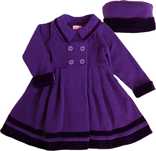 Good Lad Toddler//4//6X Girls Pink Fleece Coat with Matching Hat