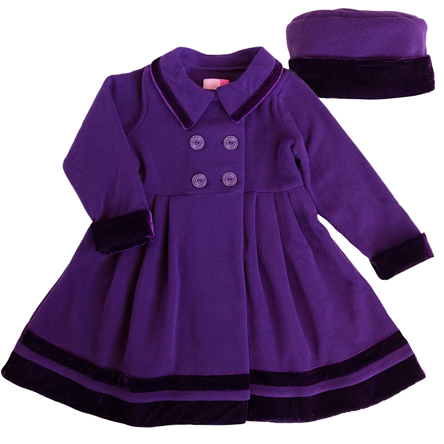 ad1609fbd Amazon.com  Good Lad 2 6X Girls Double Breasted Jewel Tone Fleece ...