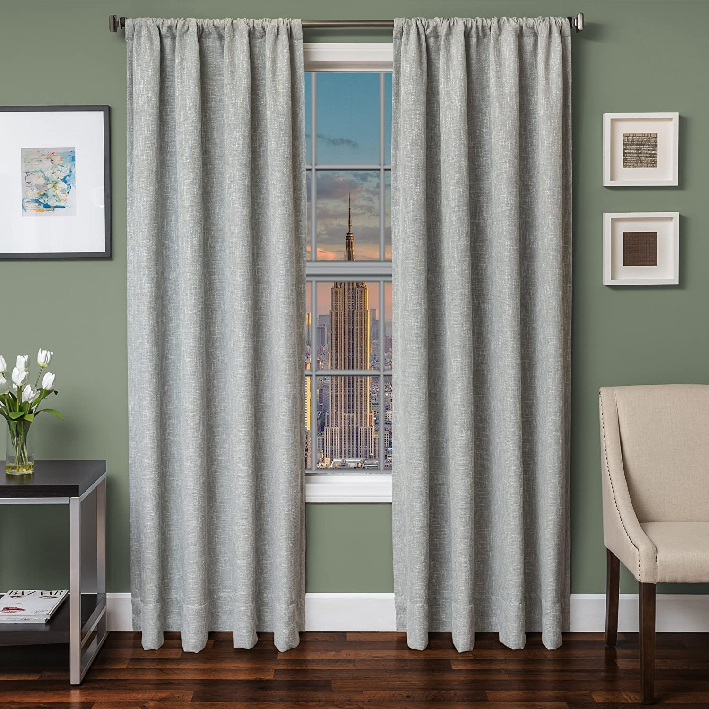 Softline Home Fashions 924BKL468RPU84 Bessemer Single Curtain Panel Spa
