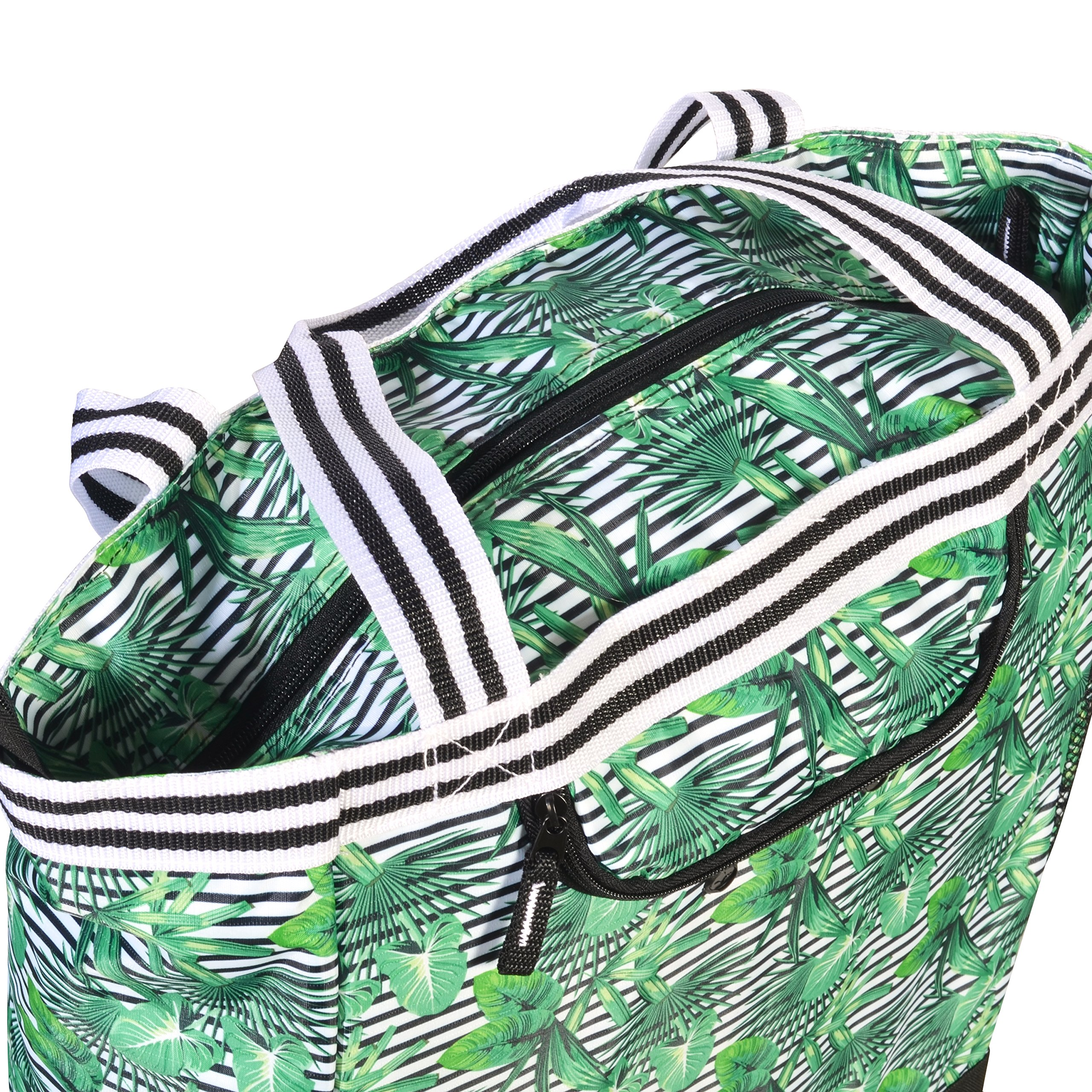 Olympia 2-Piece Rolling Shopper Tote and Cooler Bag, Rain Forest by Olympia (Image #5)