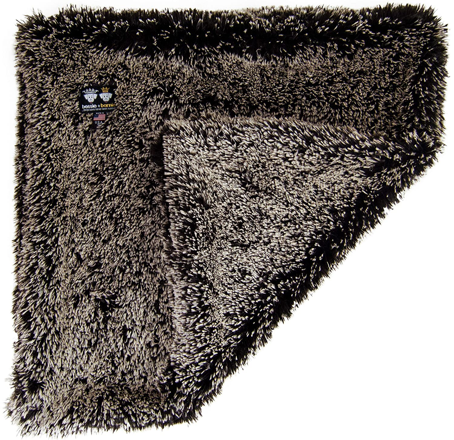 Bessie and Barnie Frosted Willow Luxury Shag Ultra Plush Faux Fur Pet, Dog, Cat, Puppy Super Soft Reversible Blanket (Multiple Sizes) BLNKT-FDWW-SM-NR