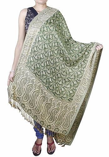 Mujeres de la manera bufanda de invierno cálido – chal de seda mezcla suave larga estola -214 x 76 cm