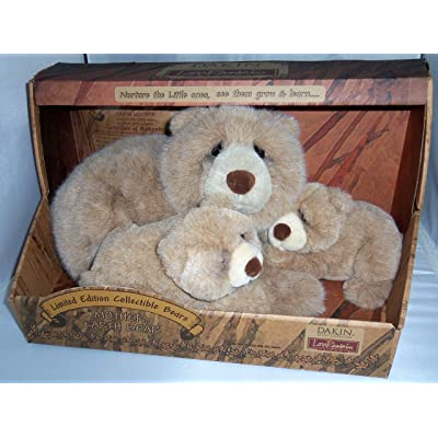 Dakin Artist Collection Lou Rankin Earth Mother Bear & Cubs Limited Edition Plush: Toys & Games