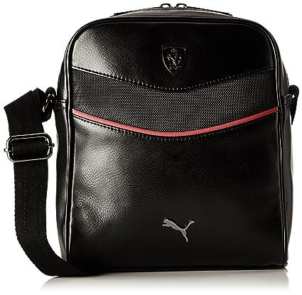 Puma Ferrari Synthetic 3.5 Ltrs Black Messenger Bag (7394101)  Amazon.in   Bags 7bd1d2a5f1e20