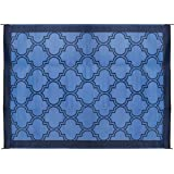 Camco 42856 Reversible Outdoor Mat (9' x 12', Lattice Blue Design)