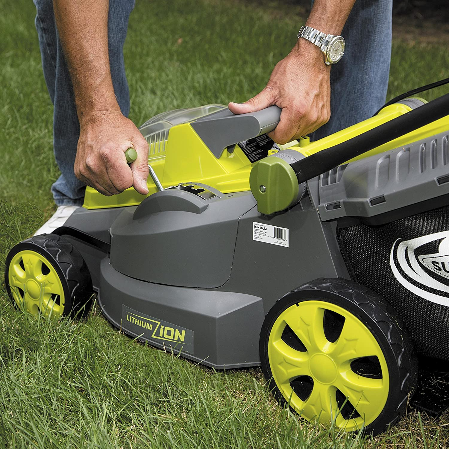 Sun Joe iON16LM 40-Volt 4.0-Amp 16-Inch Brushless Cordless Lawn Mower