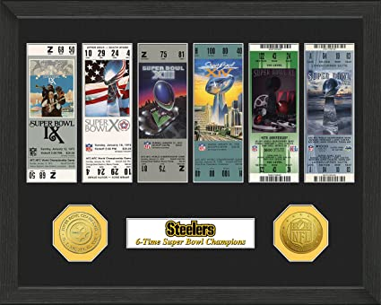 reputable site 47b93 1436b The Highland Mint NFL Pittsburgh Steelers SB Championship Ticket Collection  Frame