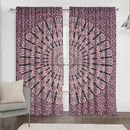 Amazoncom Living Room Curtains Bohemian Curtains For Bedroom