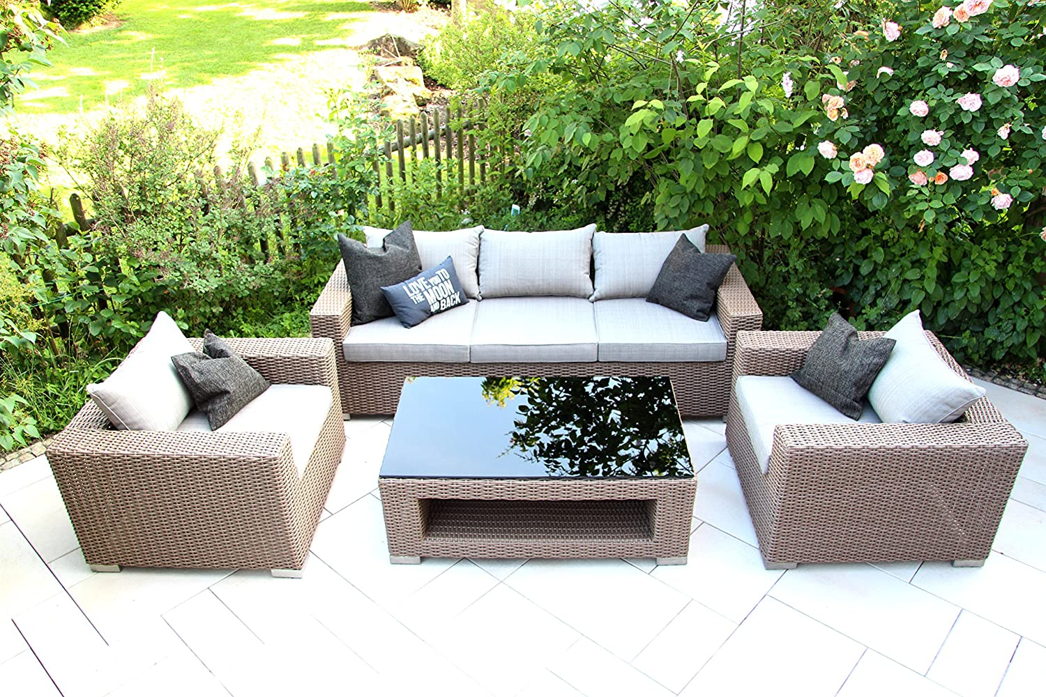 hochwertiges outdoor lounge garten m bel set loungeset