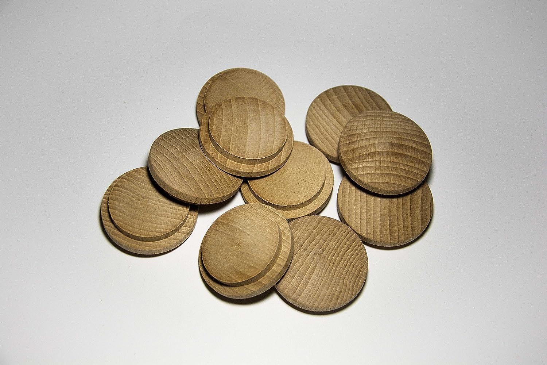 Pack de 10 tapones de madera Haya (Ø 45/55 mm con mecha): Amazon.es: Bricolaje y herramientas