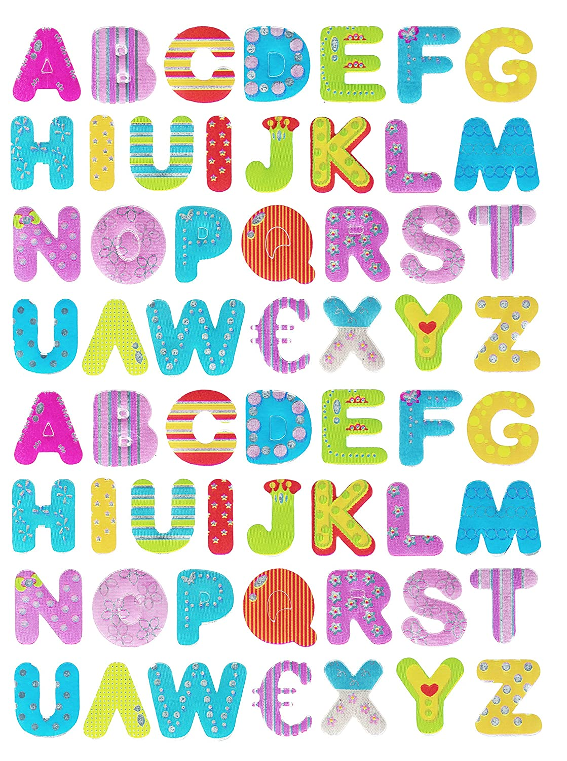 Coloured Alphabet Letters Stickers - Kids / Childrens Labels for ...