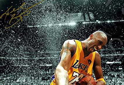 91910c6c69f9 Kobe Bryant Autograph Replica Poster Print - Los Angeles Lakers -  Celebration