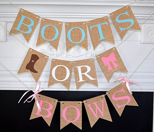 Amazon.com Boots or Bows Gender Reveal, Boots or Bows