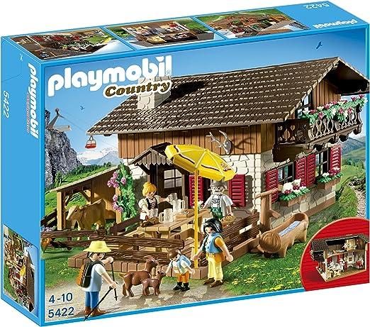 Playmobil Vida en la Montaña - Casa de los Alpes con Varios Accesorios , Playsets de Figuras de Juguete, 50 x 10 x 40 cm, (5422): Amazon.es: Juguetes y juegos