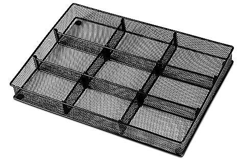 Amazon.com: Organizador de cajones de cubiertos: bandeja de ...