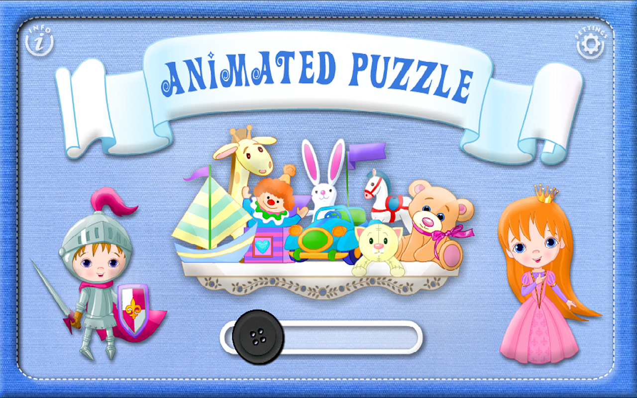 Preschool Puzzles Games With Animated Animals Vehicles