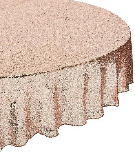 TRLYC 72u0027u0027 Round Rose Sequin Wedding Cake Tablecloth, ...