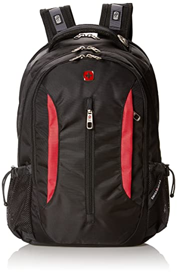 Amazon.com: Swiss Gear SA1288 Black with Red Laptop Backpack ...