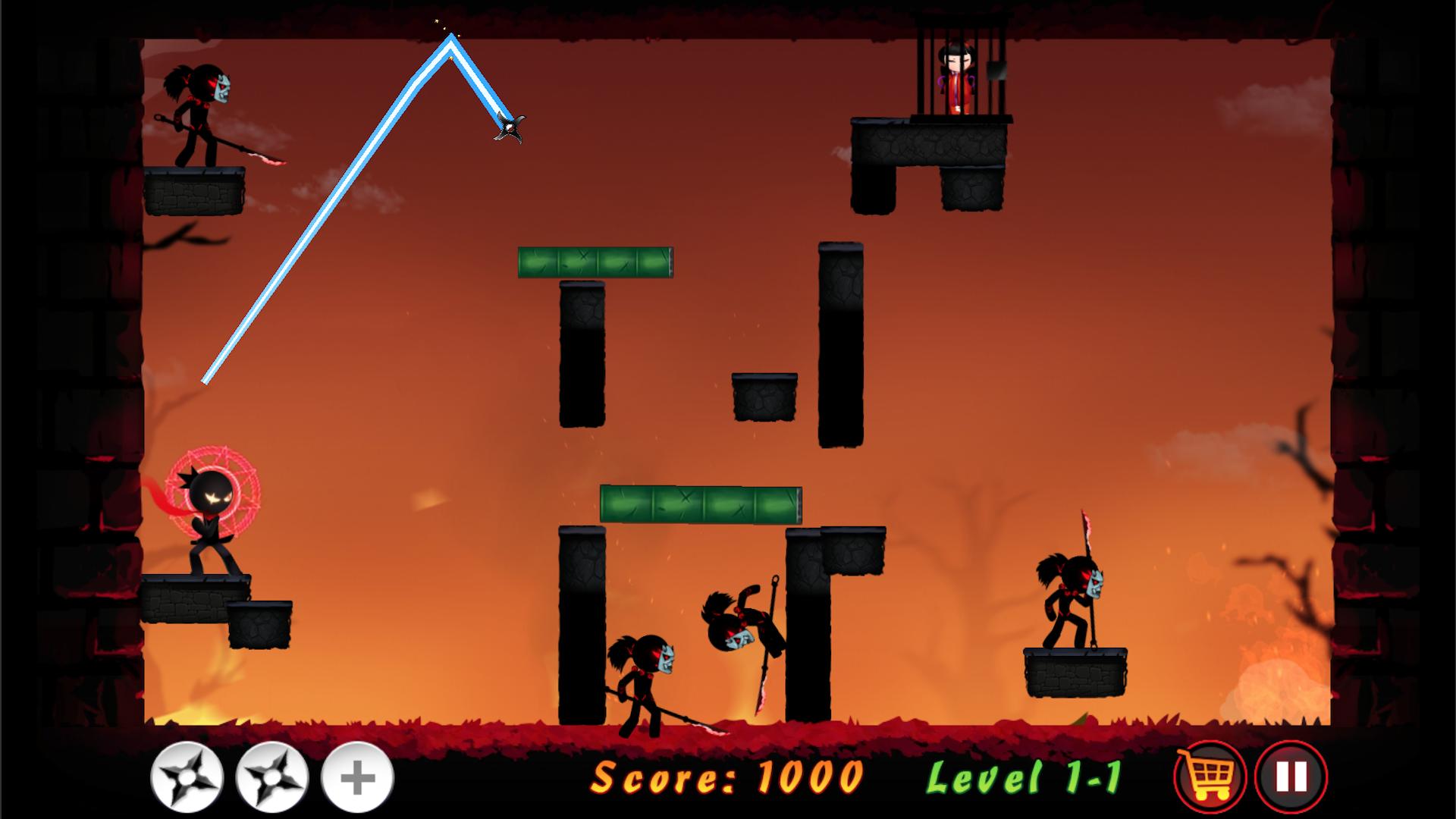 Stickman Ninja Warrior - Throwing Puzzle Game: Amazon.es ...