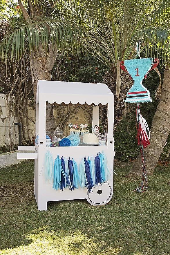 Carro de Chucherías de Cartón, Medidas 132centimeter(alto) x 100centimeter(ancho) x 59centimeter(profundidad) - Candy Bar: Amazon.es: Juguetes y juegos