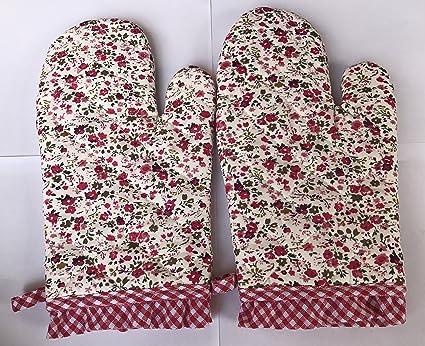 Uno pares algodón horno gloves-cooking-heat manopla para horno para barbacoa cocina Grill