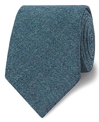 03d32db88731 T.M.Lewin Barberis Teal Wool Flannel Slim Tie: Amazon.co.uk: Clothing
