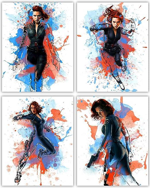 FREE P+P Scarlett Johansson Poster Avengers Star Black Widow CHOOSE YOUR SIZE
