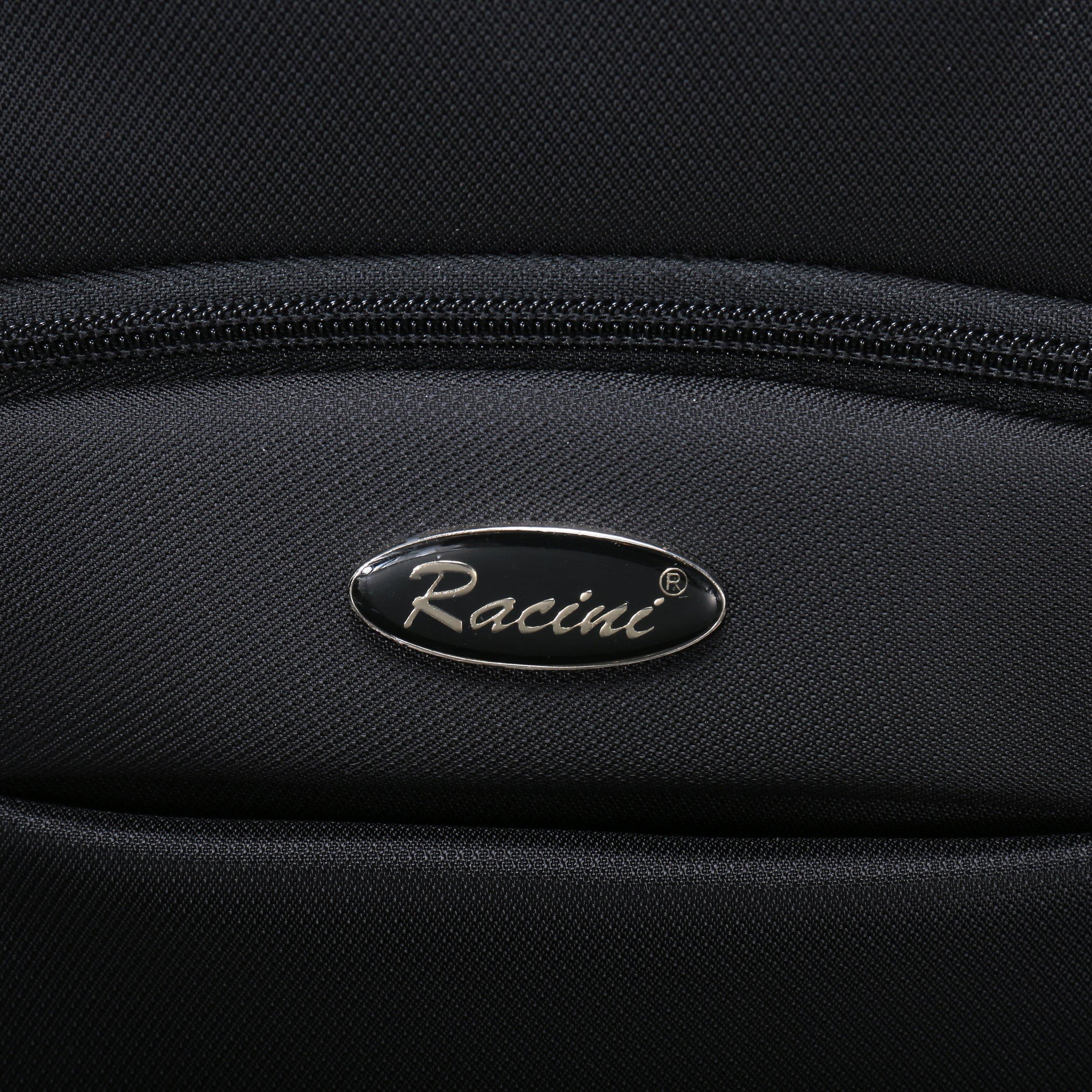 Racini Nylon Waterproof Rolling Backpack, Freewheel Travel School Wheeled Backpack, Carry-on Luggage with Anti-theft Zippers (Black) by Racini (Image #9)