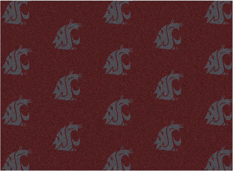 6 ' x9 'ワシントン状態 – Milliken NCAAカレッジスポーツチームロゴナイロン100 %パイルファイバー広い部屋用カスタムエリアラグカーペットwithプレミアムBound Edges