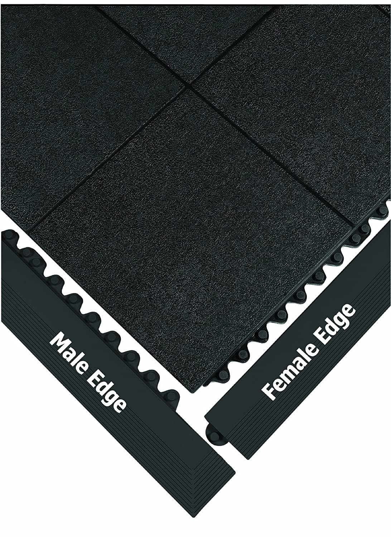 Male Wearwell 572.EdgingMCFRBK 24//Seven Cutting Fluid Resistant Anti-Fatigue Edging Black 3 x 39 x 5//8 Thickness