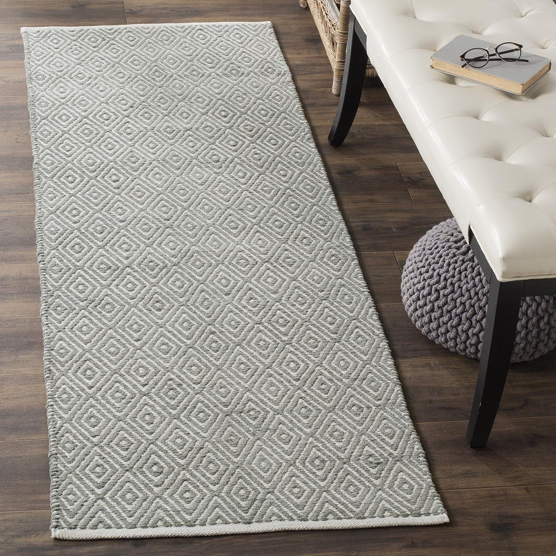 Amazon com safavieh boston collection bos682e handmade grey cotton runner 23 x 11 kitchen dining