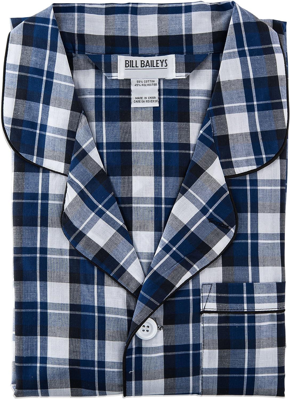 Bill Baileys Sleepwear Mens Broadcloth Woven Nightshirt Sleep Shirt