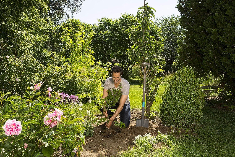 manche en bois de fr/êne certifi/é FSC b/êche de jardin avec rev/êtement pour b/êcher et creuser 17001-20 Gardena b/êche /à bord pointu NaturLine/