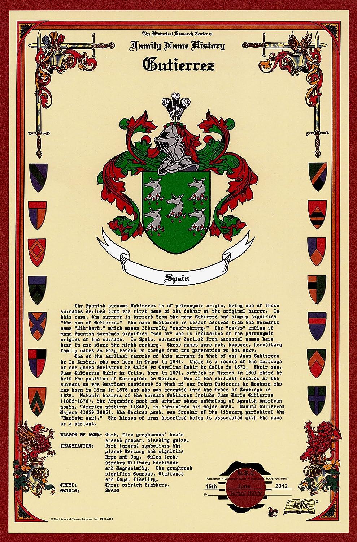Amazon Gutierrez Coat Of Armscrest And Family Name History