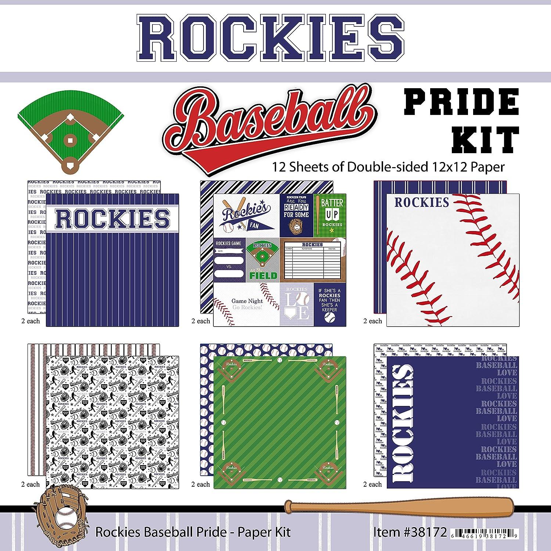 Scrapbook Customs Rockies Pride Baseball Scrapbook Kit