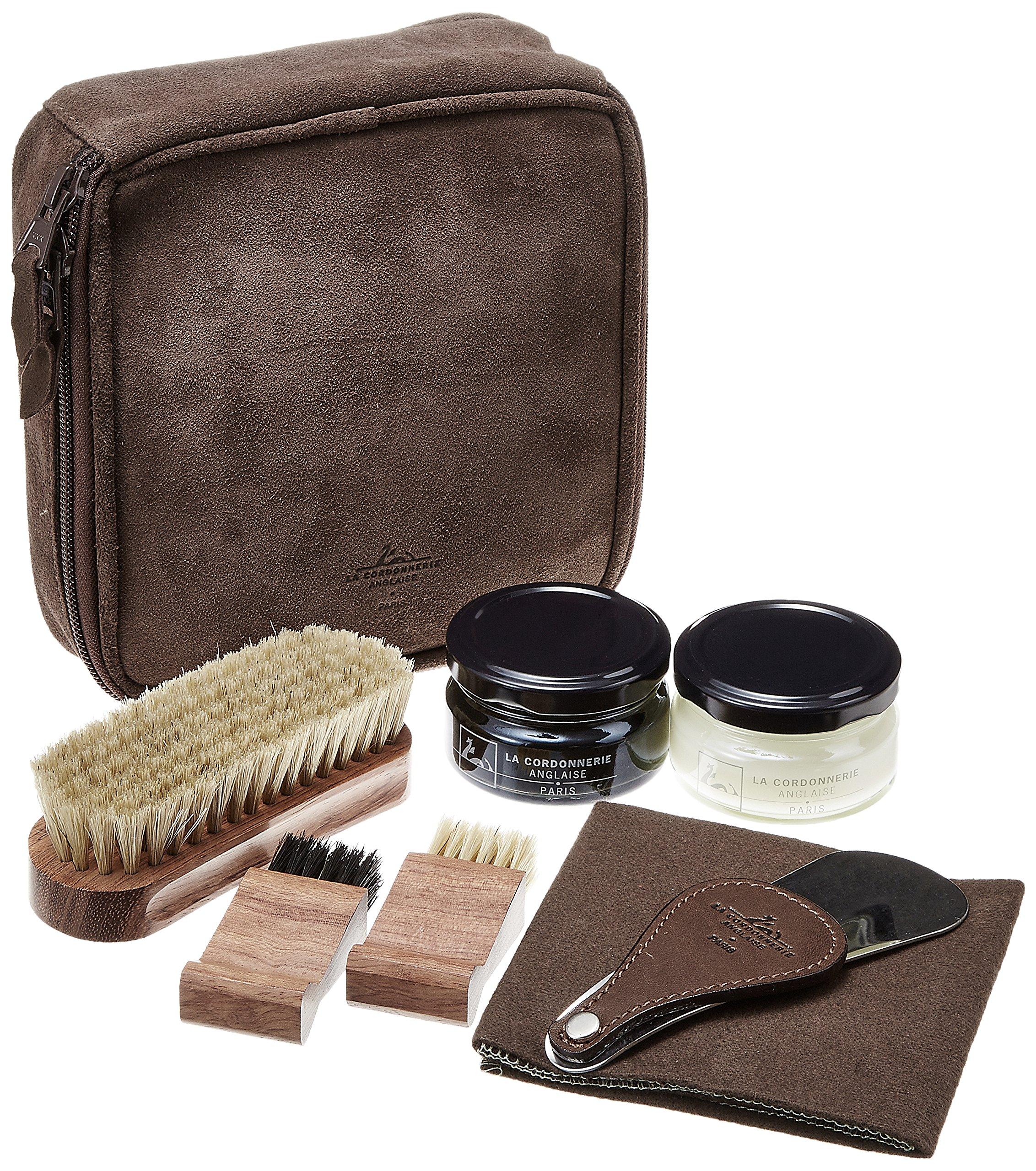 La Cordonnerie Anglaise Shoe Care Kit - Luxury Travel Shoe Polishing Set by by La Cordonnerie Anglaise