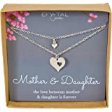 Mother Daughter Set For Two, Cutout Heart Necklaces, 2 Sterling Silver Necklaces Mother's Day Gift