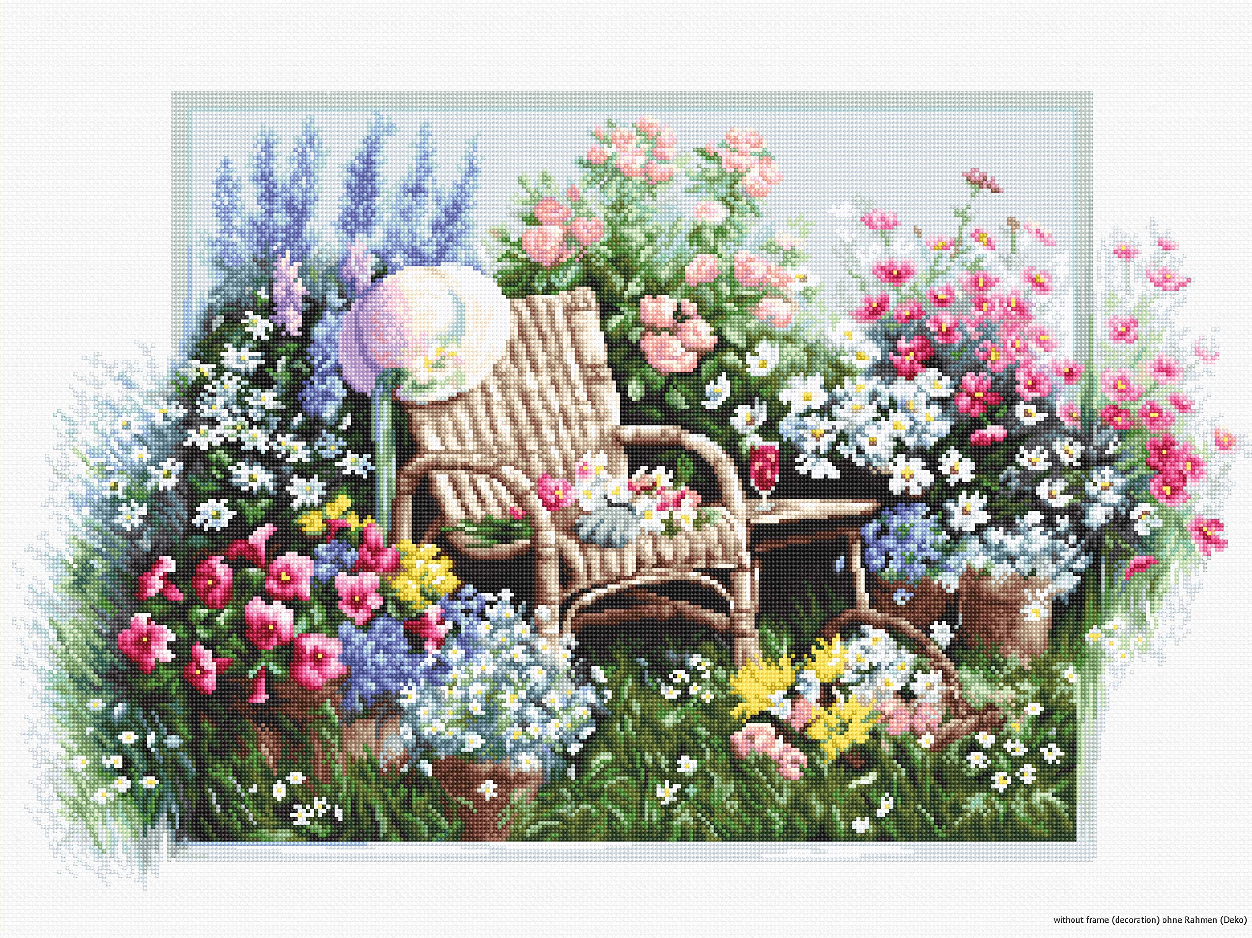 Luca-S Cross Stitch Kit, Cotton, Multicoloured, 43x28cm